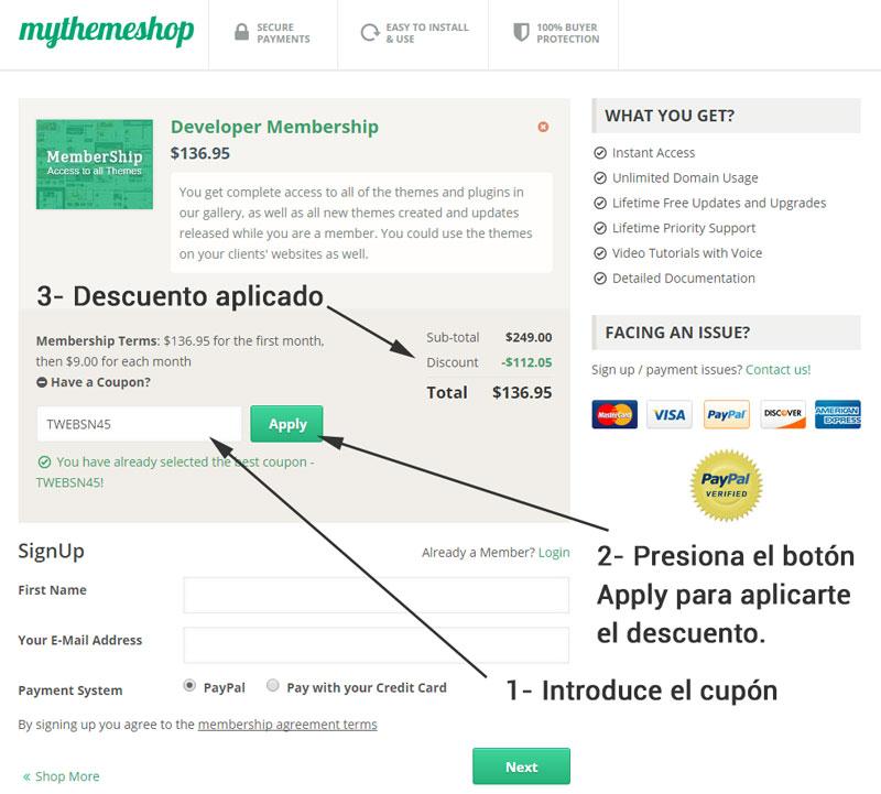 Mythemeshop - Temas de Wordpress con un 45% descuento