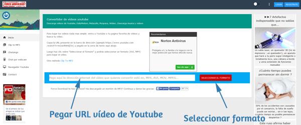 URL en aTube Catcher